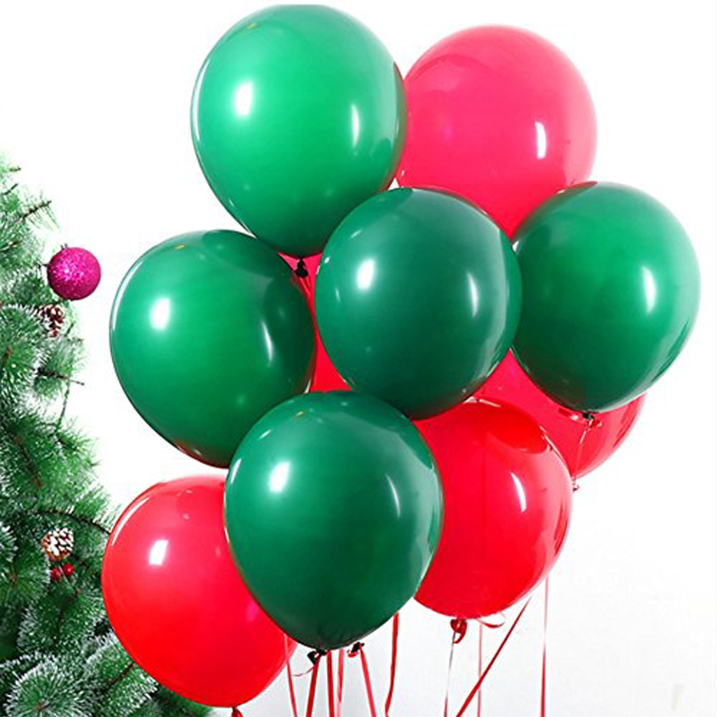Green & Red Balloons