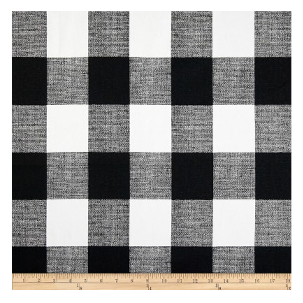 Check Black/White Fabric from Fabric.com