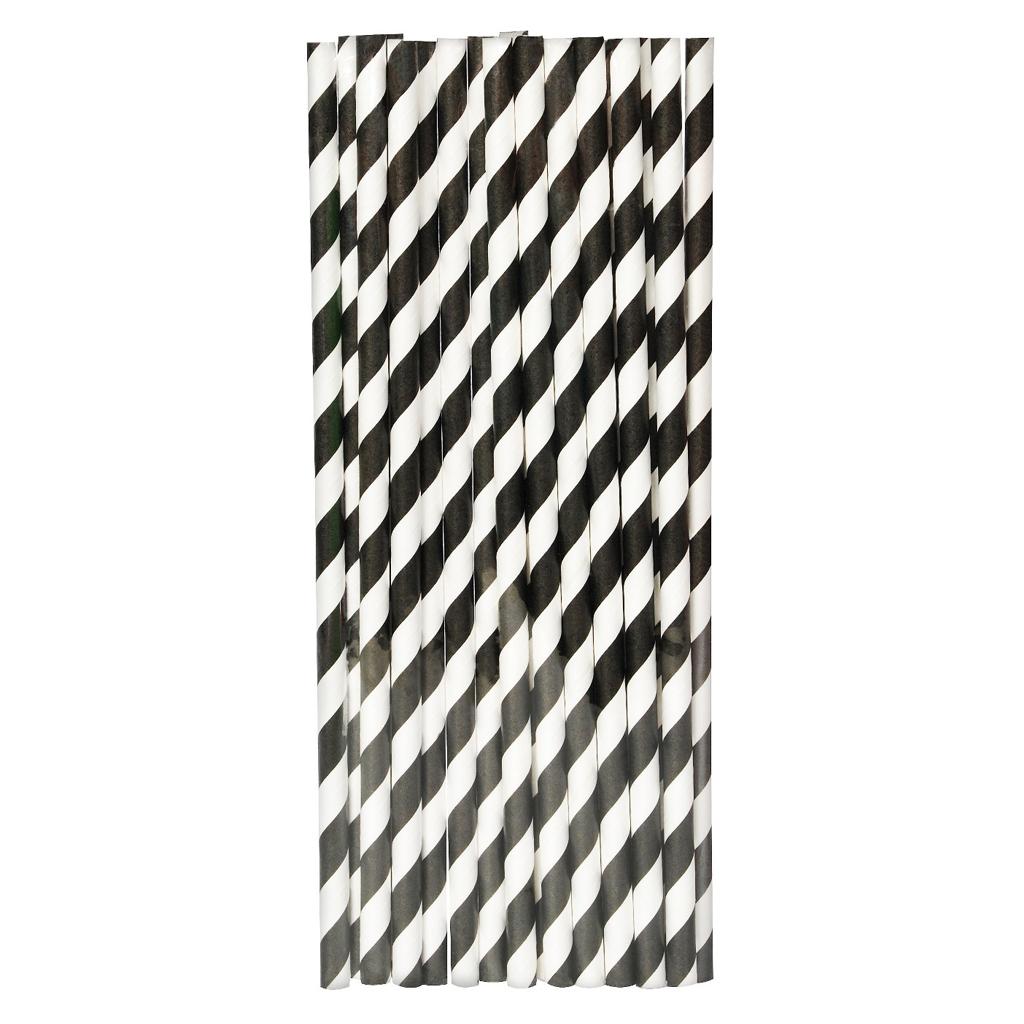 Black & White Paper Straw