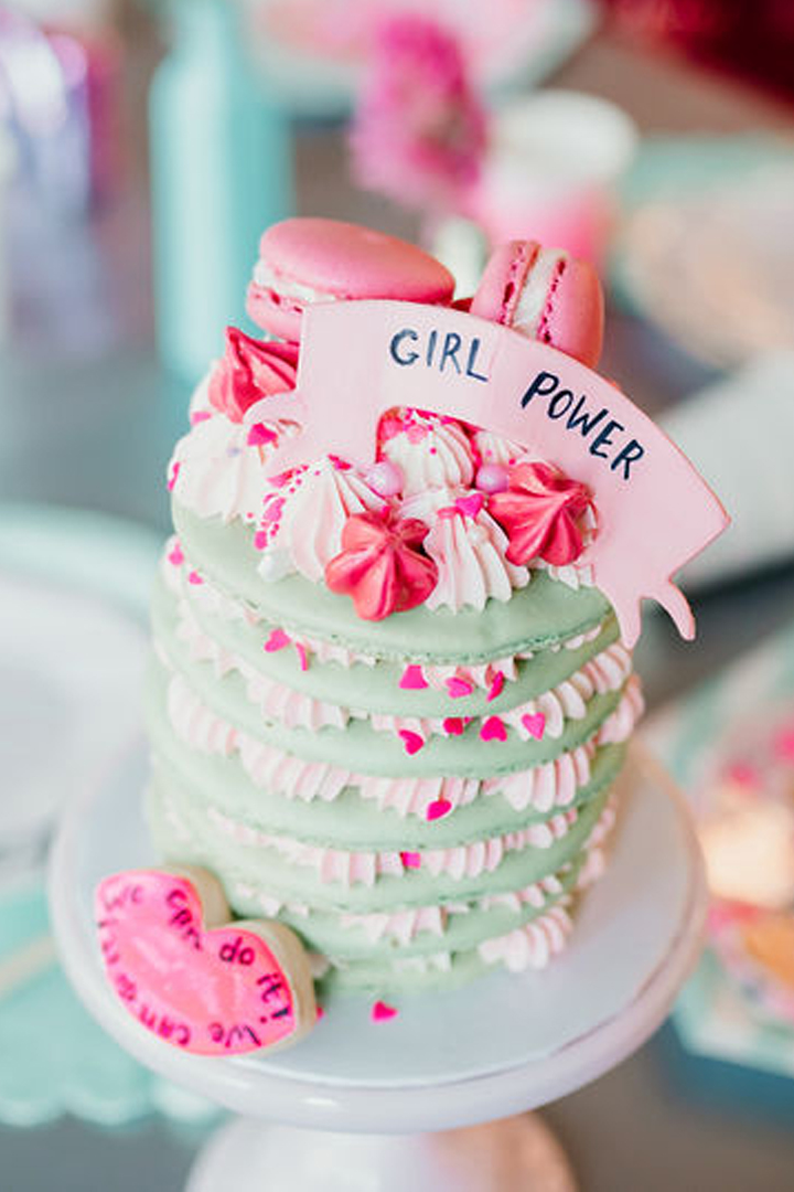 Cake from Girl Power Party Styled by Bashery & Co. | Black Twine