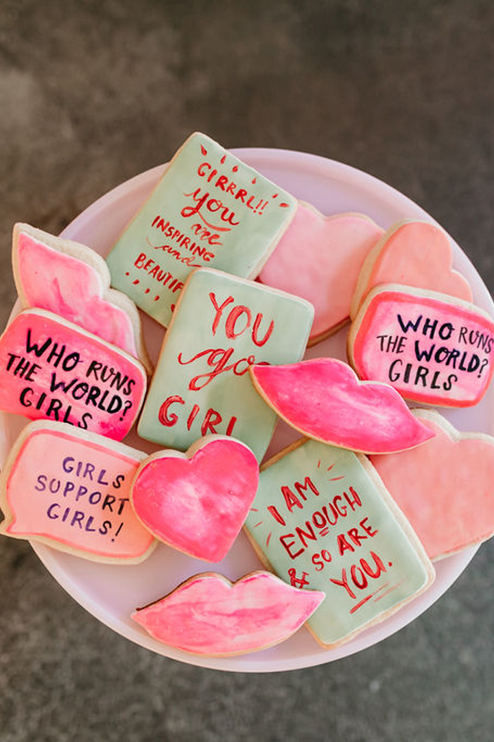 Dessert Cookies from Girl Power Party Styled by Bashery & Co.   Black Twine