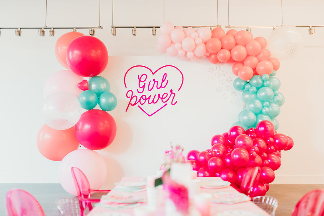 "Tablescape, ""Girl Power"" Sign from Girl Power Party Styled by Bashery & Co. 
