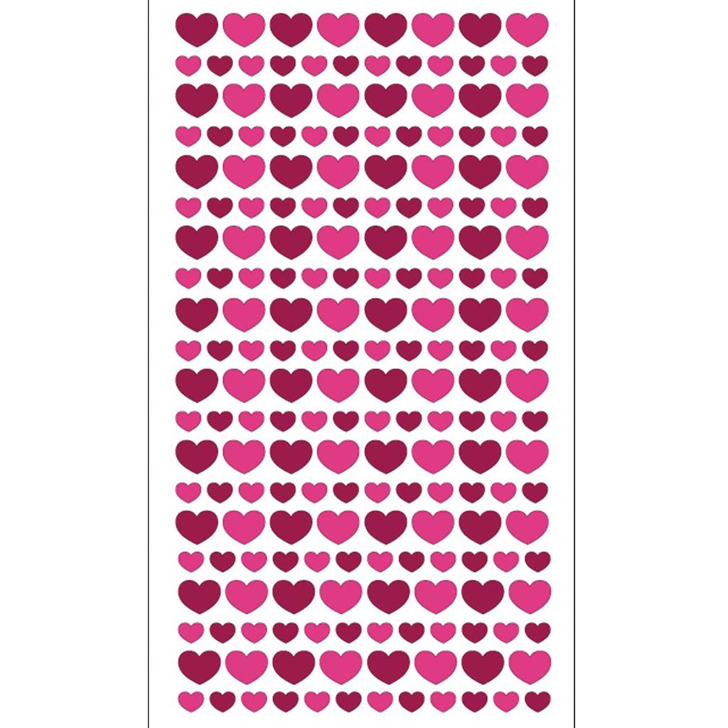 Glitter Hearts Stickers