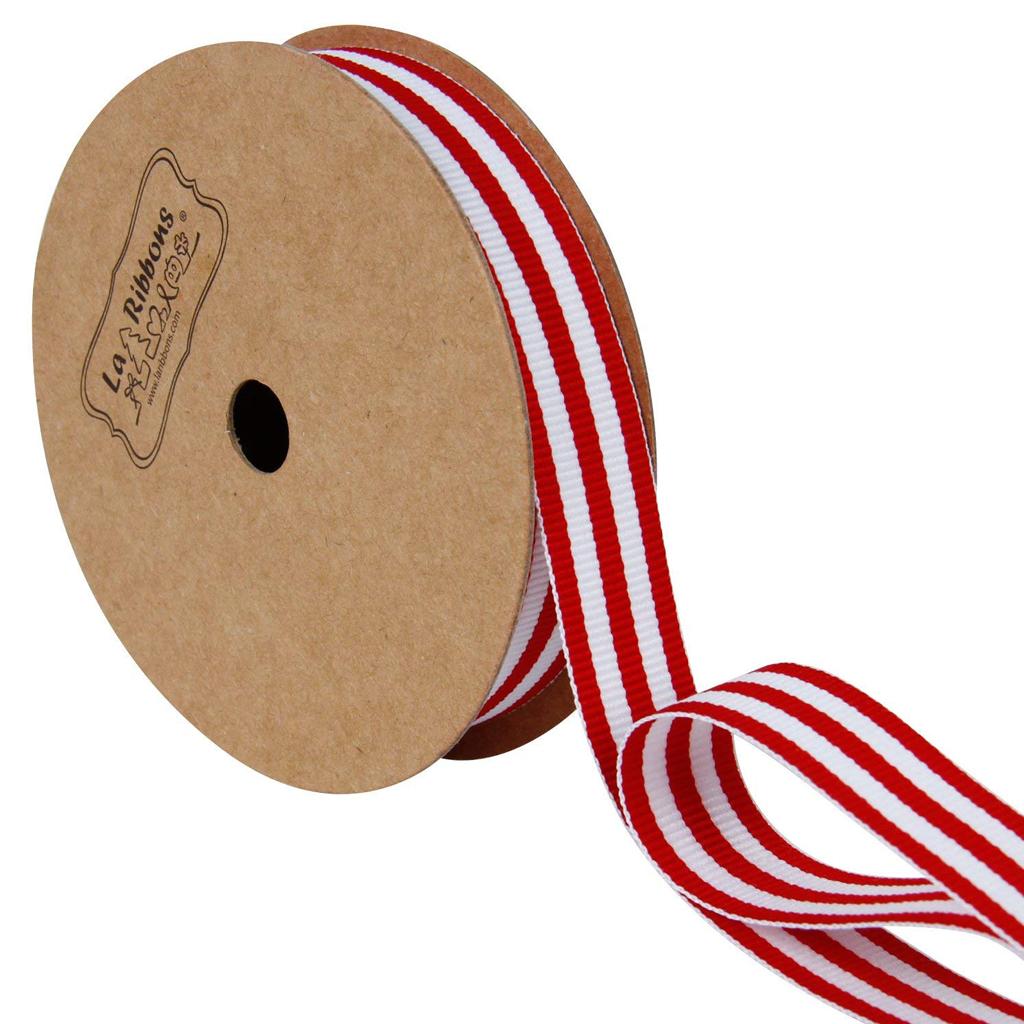 Red White Stripe Ribbon