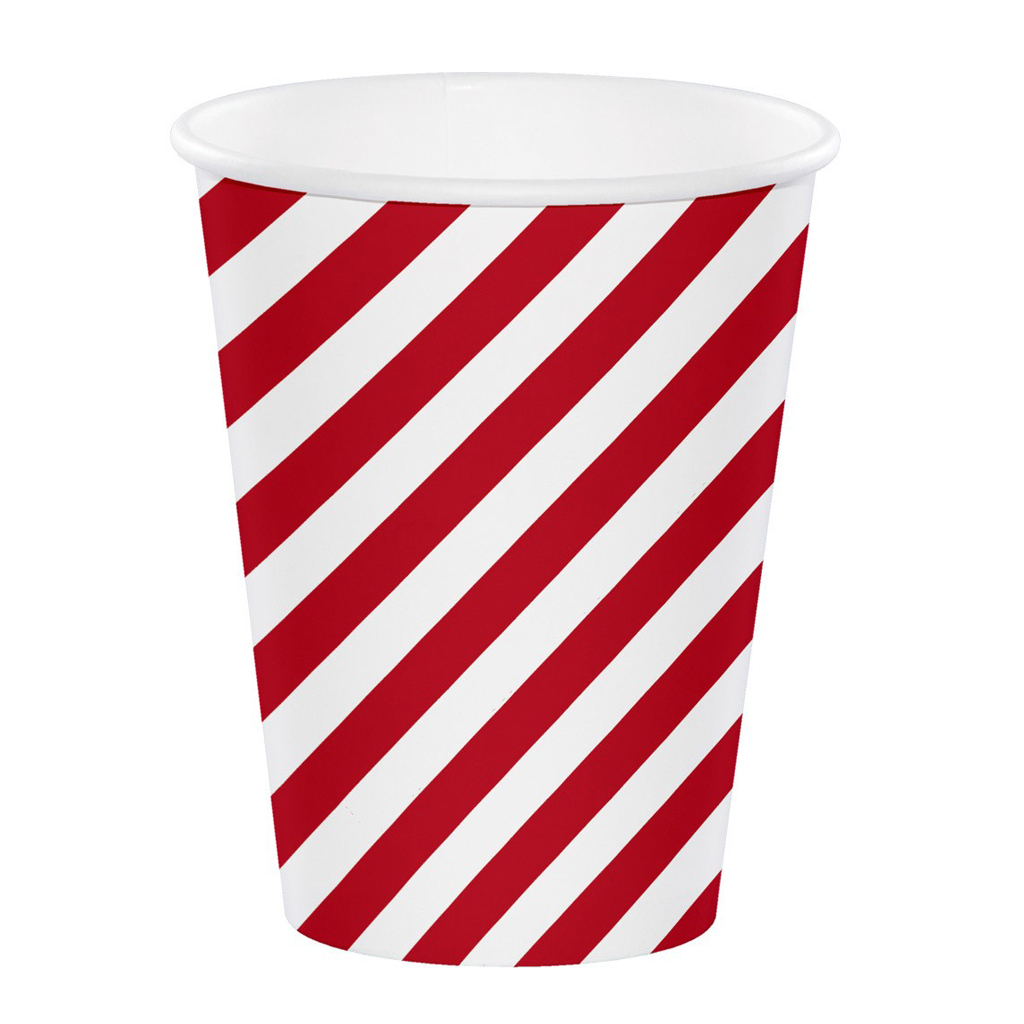 Red and White Stripe Paper Cups from Target