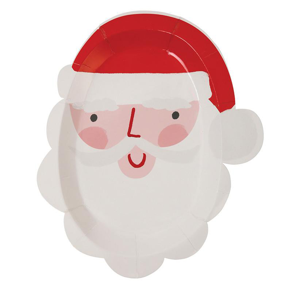 SANTA FACE SMALL PLATE from Bonjour Fete