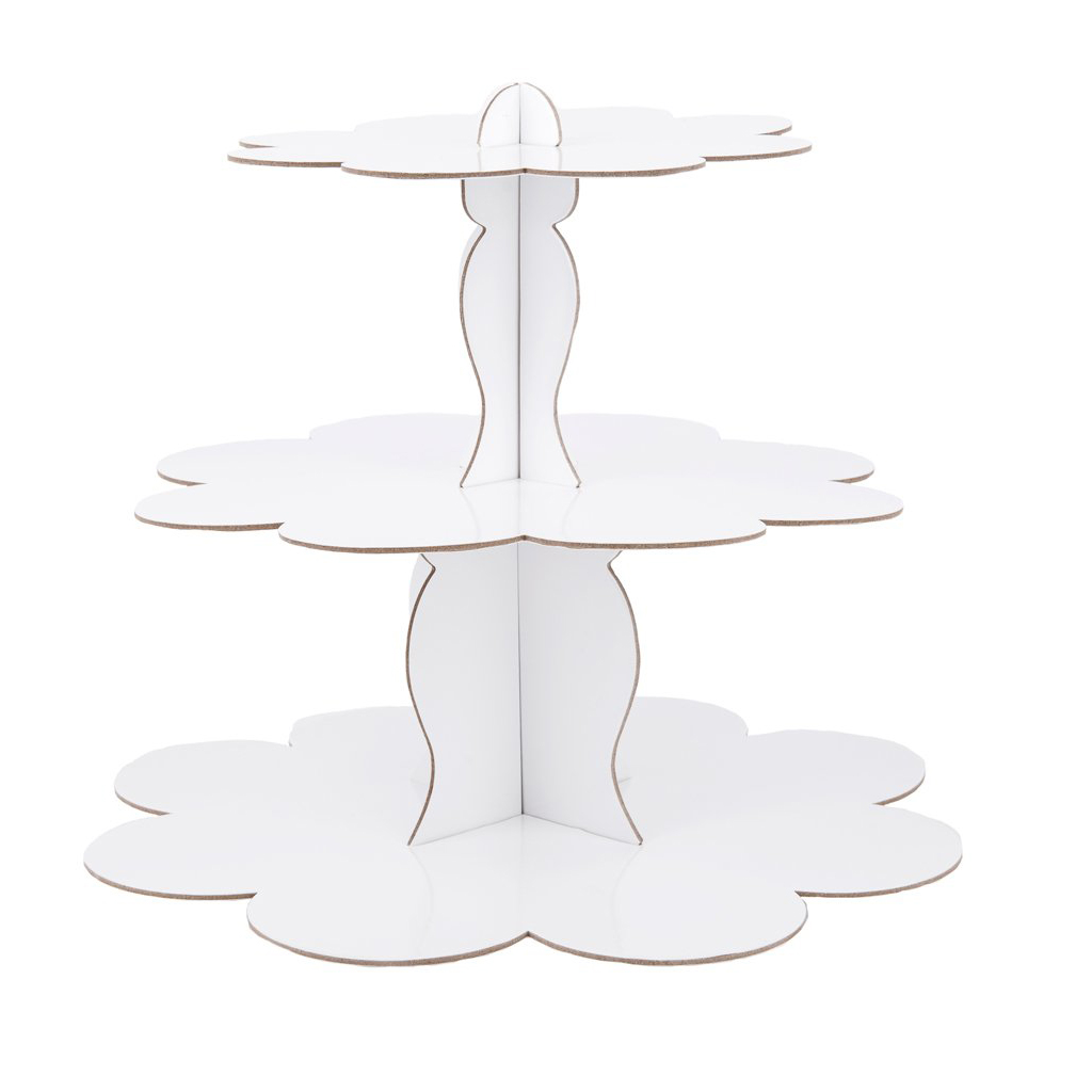 White 3-Tier Cake Stand  from Sophistiplate