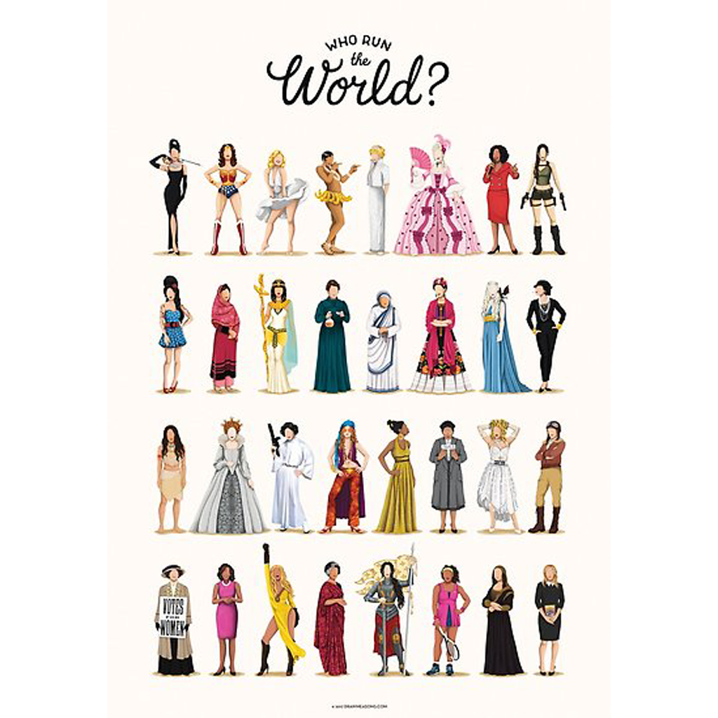 Who Run the World Women Poster from Red Bubble