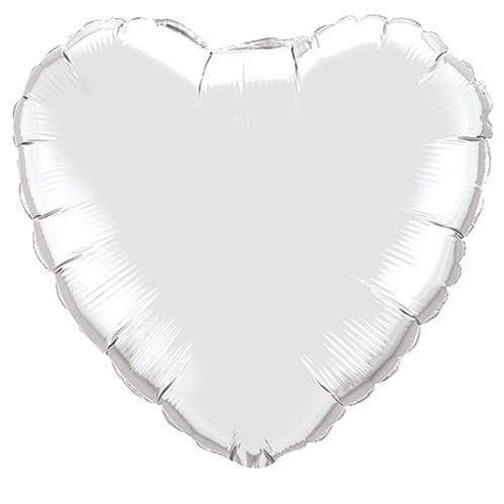 HEART - SILVER BALLOON from LA Balloons