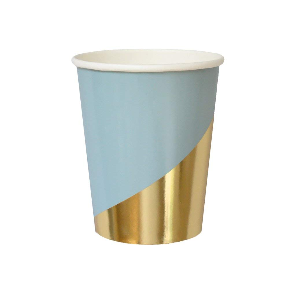 Blue with Gold Colorblock Cups from Harlow & Grey