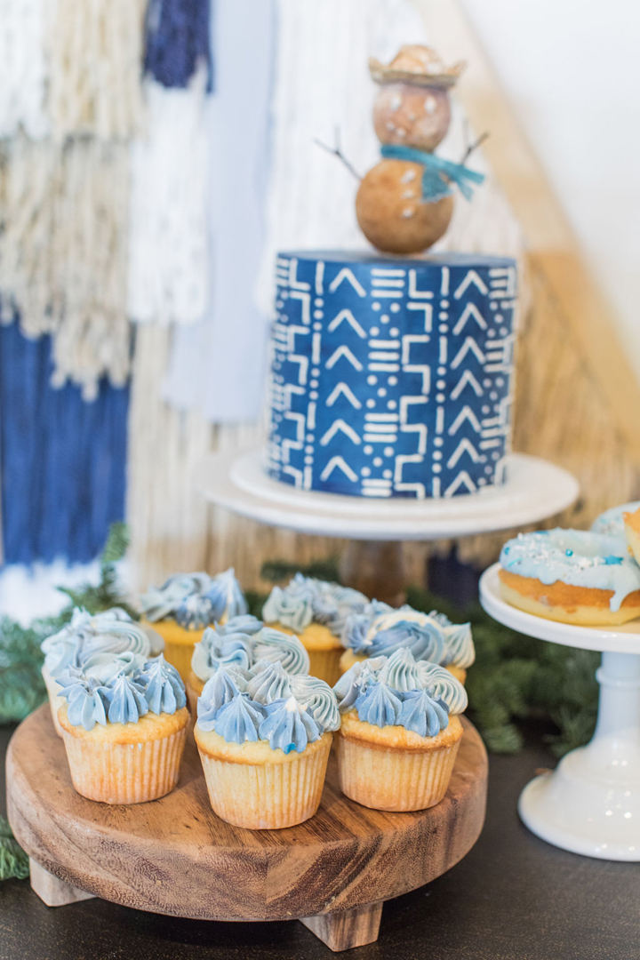 Cupcakes and Cake from California Dreamin' Party Styled by Golden Arrow Events & Design