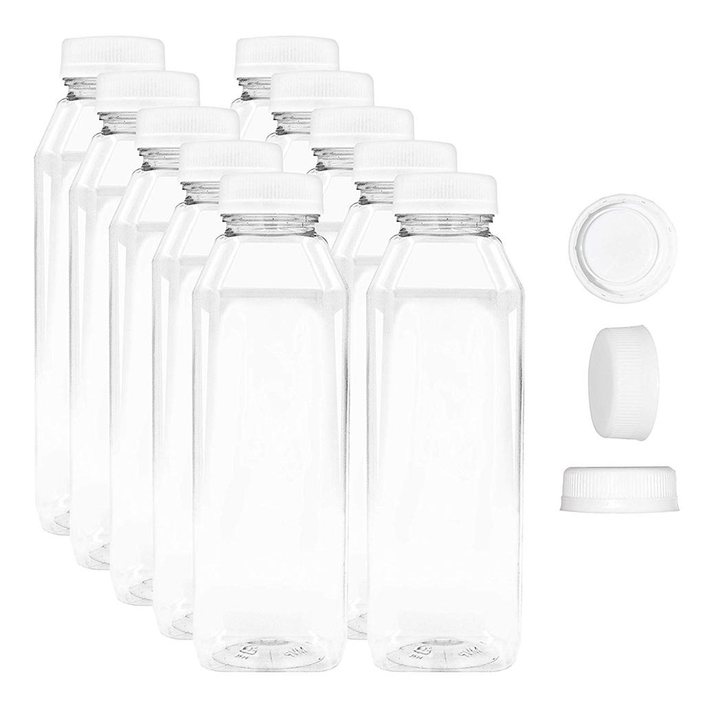 French Square Plastic Bottles
