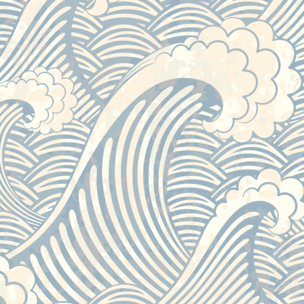 JAPANESE WAVE WALLPAPER from Rocky Mountain Decals