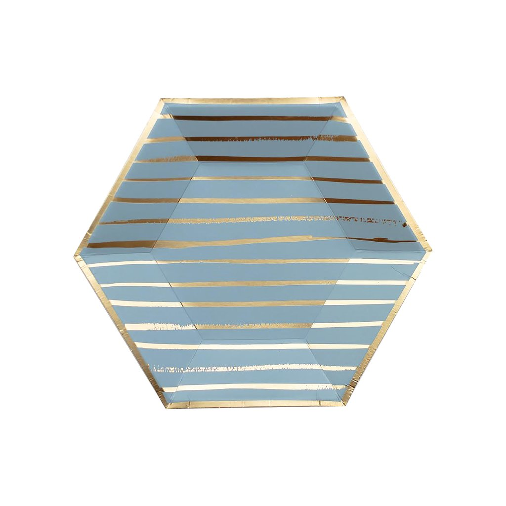 Blue Striped Small Plates from Harlow & Grey
