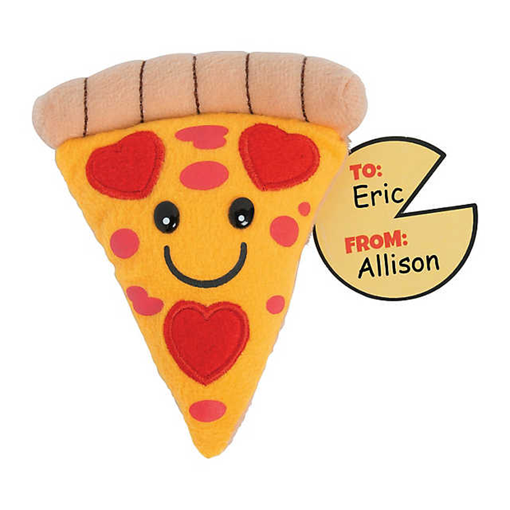 Plush Pizza Slices with Cards