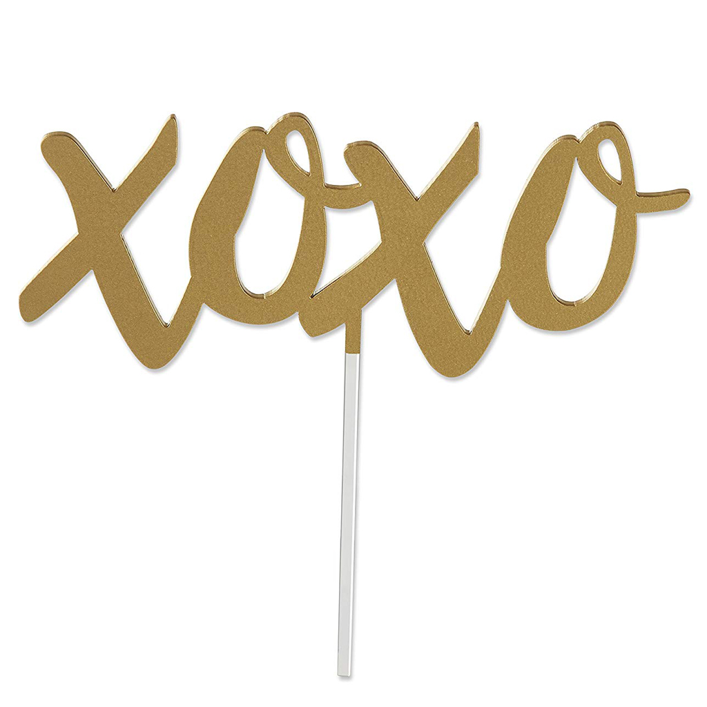 XOXO Cake Topper from Kate Aspen