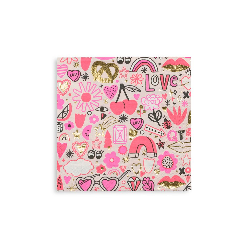 Love Notes Large Napkins from Day Dream Society