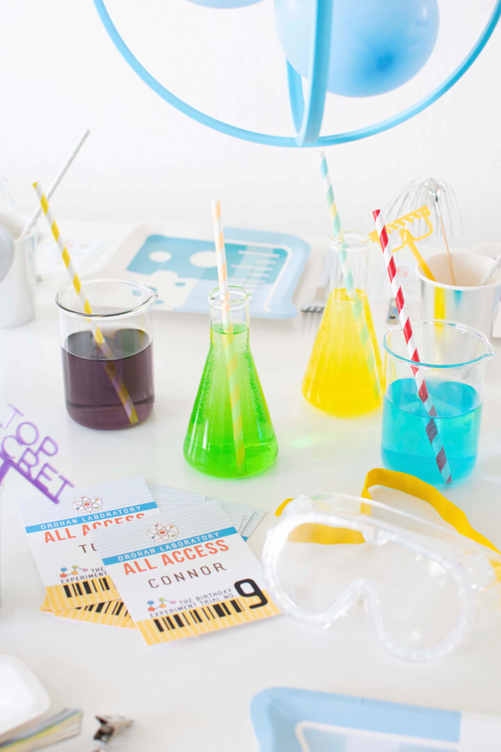 Beakers and Funnel Glass from Mad Scientist Party In Collaboration with Twinkle Twinkle Little Party | Black Twine