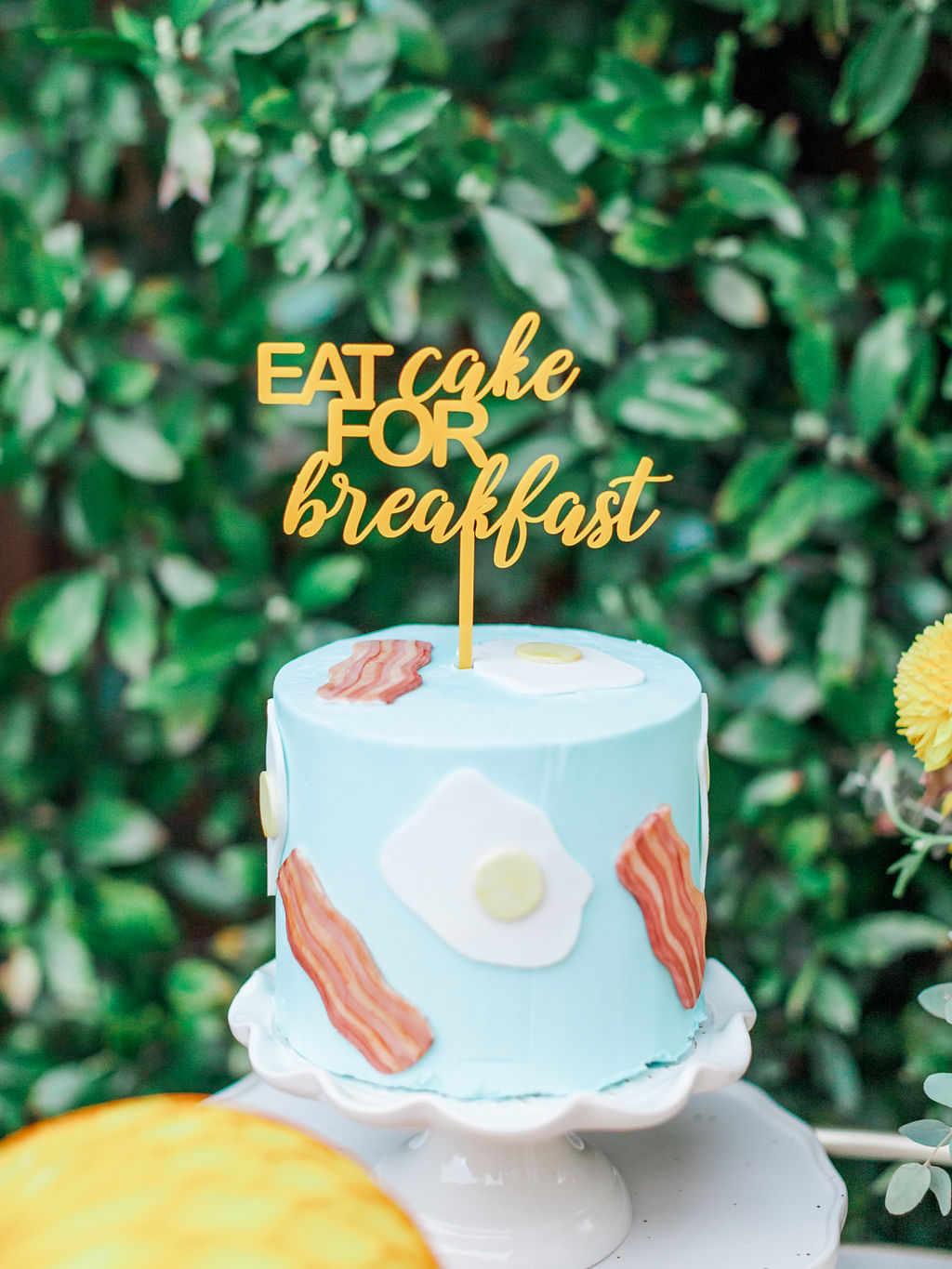 Blue Cake from Kids Birthday Brunch Styled by Deets & Things | Black Twine