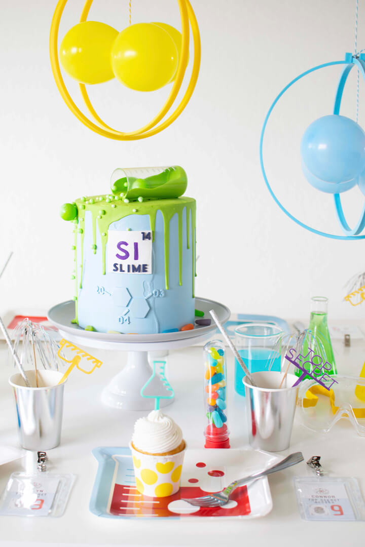Blue Cake from Mad Scientist Party In Collaboration with Twinkle Twinkle Little Party | Black Twine