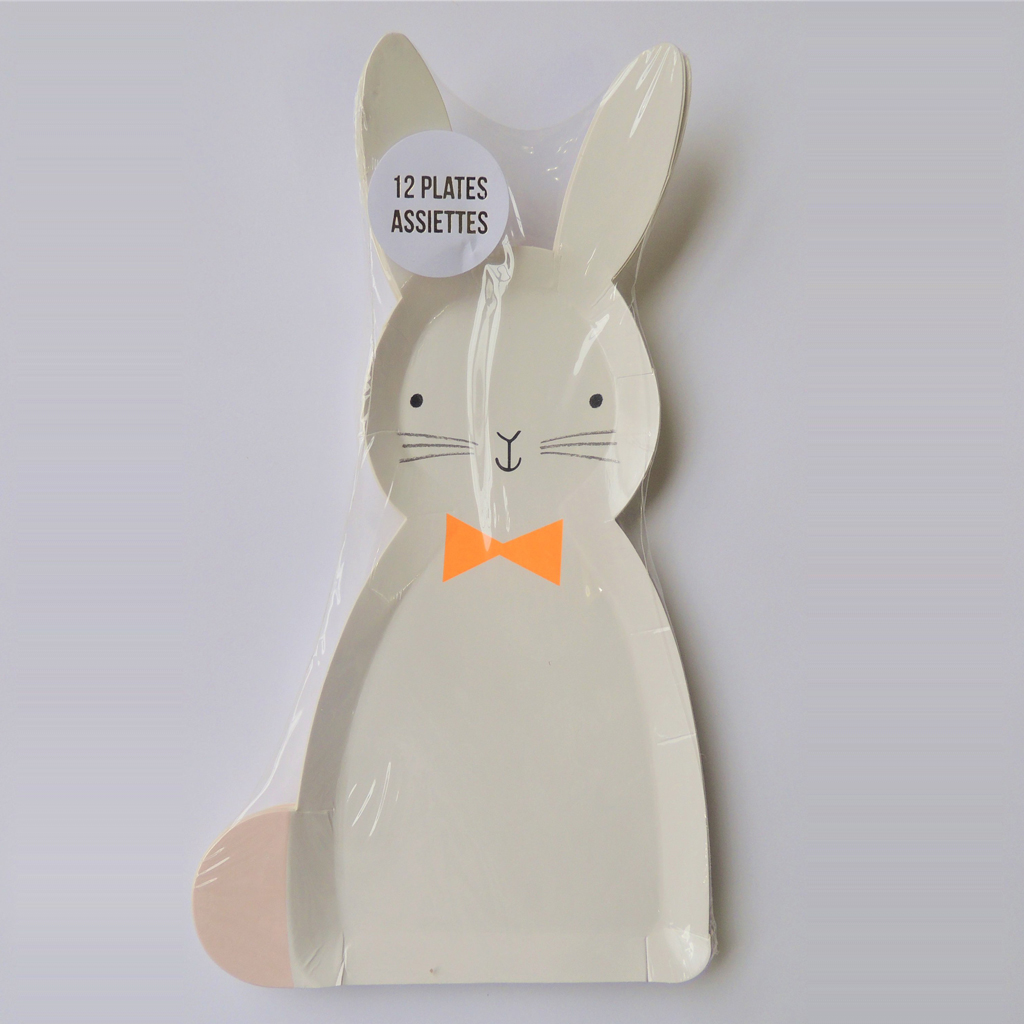 Bunny Easter Paper Plates