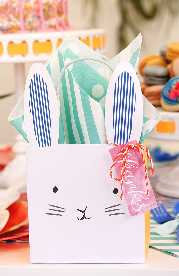 Bunny Party Bags Boho Bunny Easter Party by A Lovely Design | Black Twine