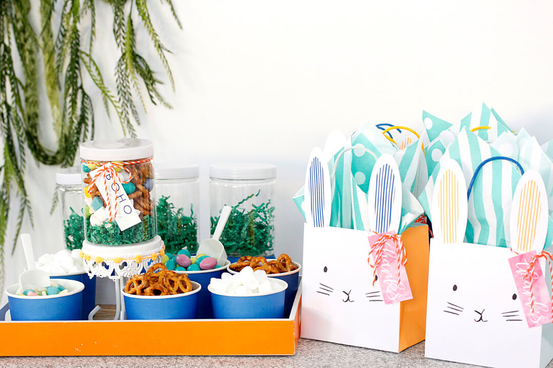 Bunny Party Bags and Sweets Boho Bunny Easter Party by A Lovely Design | Black Twine