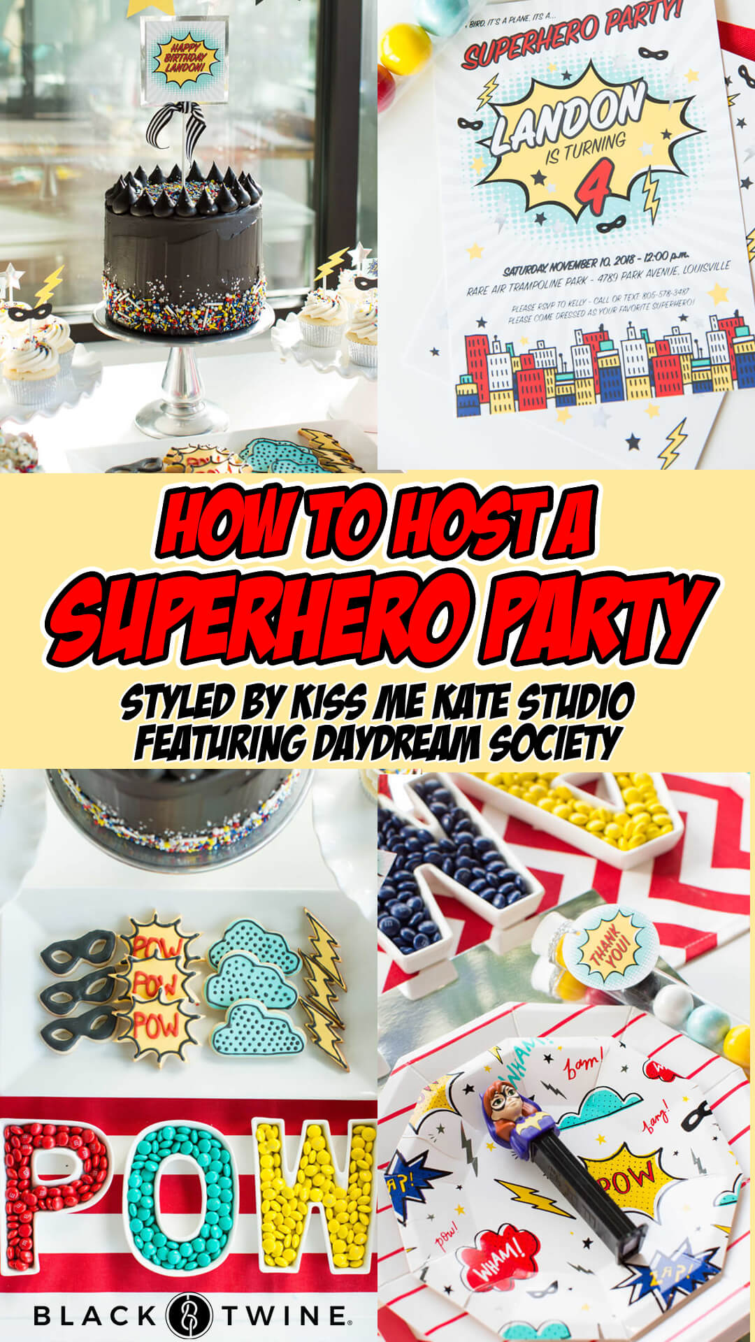 Collage from Superhero Party by Kiss Me Kate Studio | Black Twine
