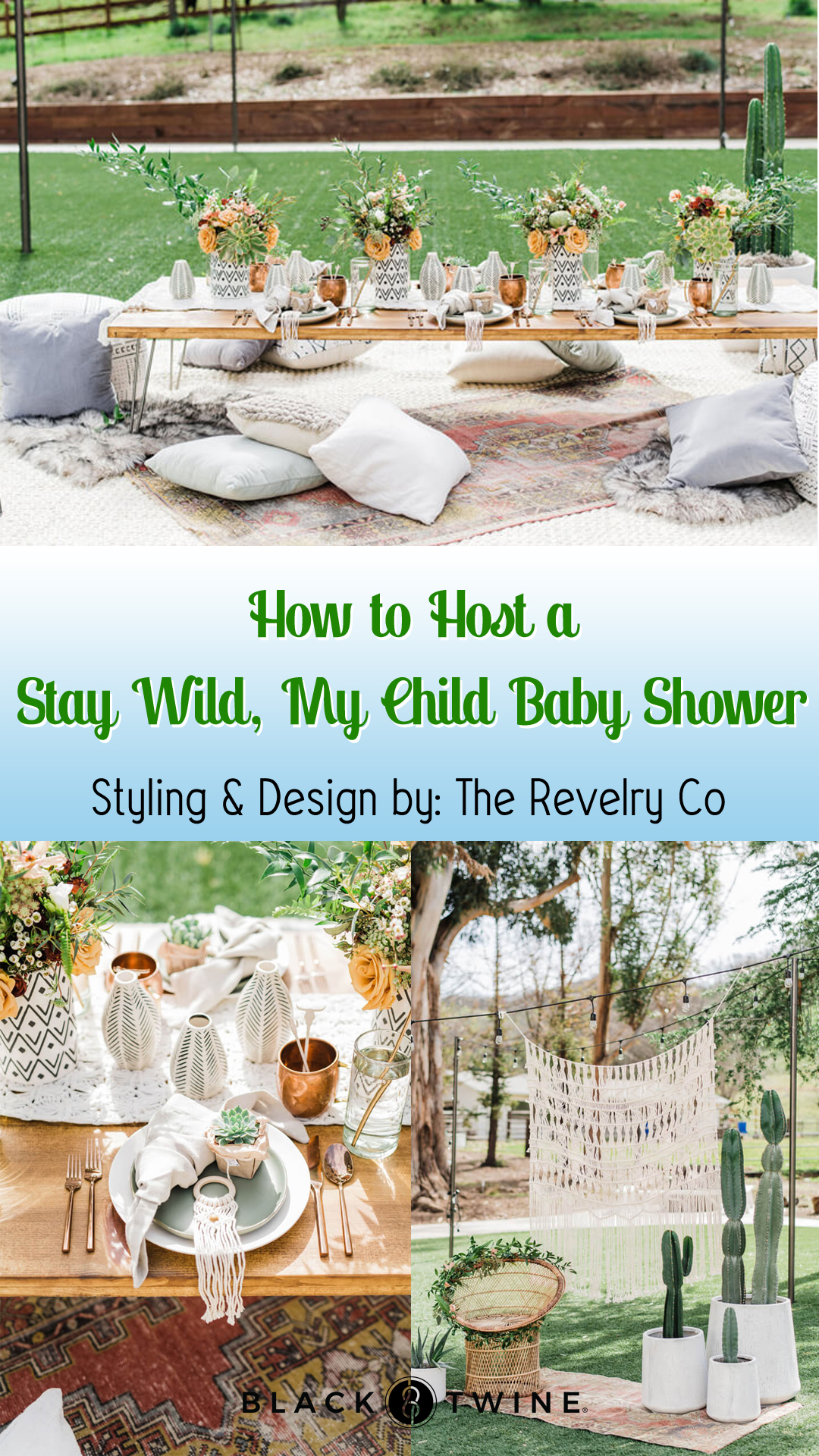 Collage Photo from Stay Wild, My Child Baby Shower by The Revelry Co | Black Twine