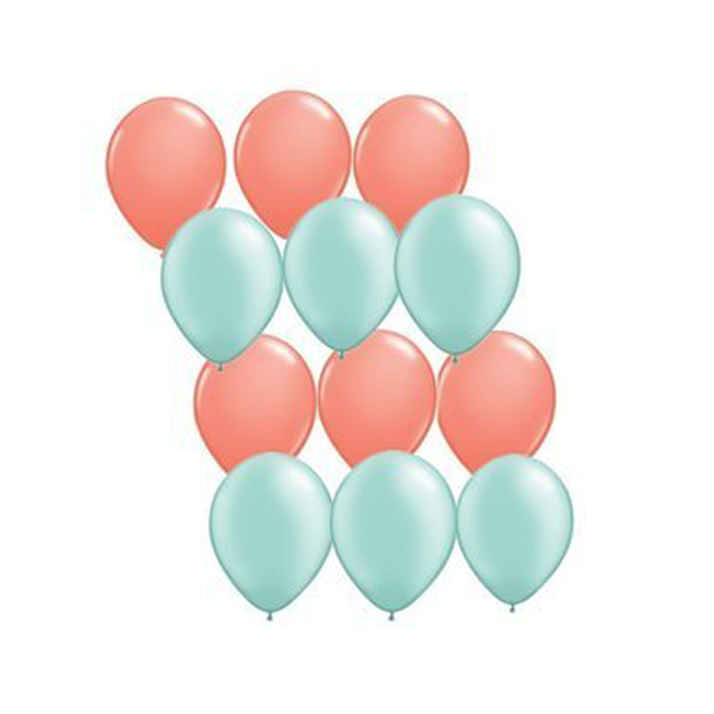 Coral and Mint Balloons
