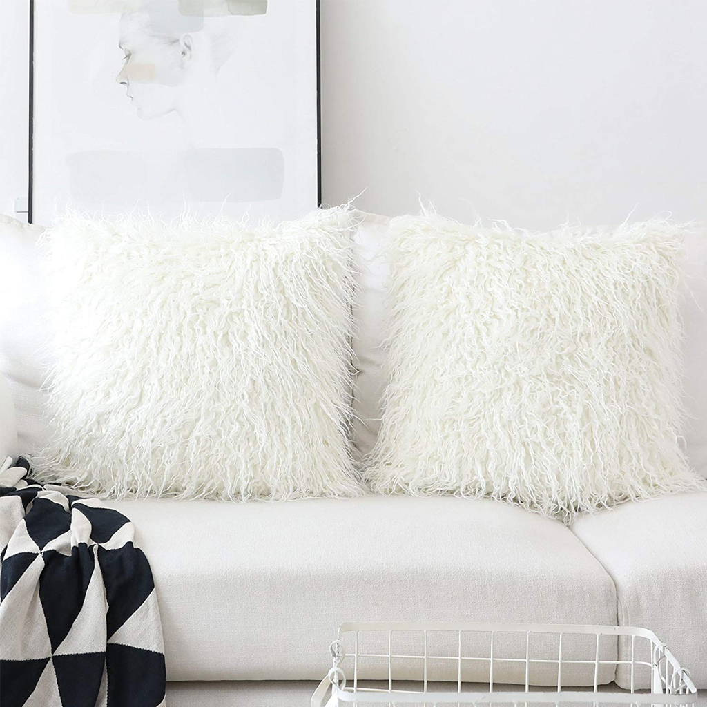 Faux Fur Throw Pillow Covers