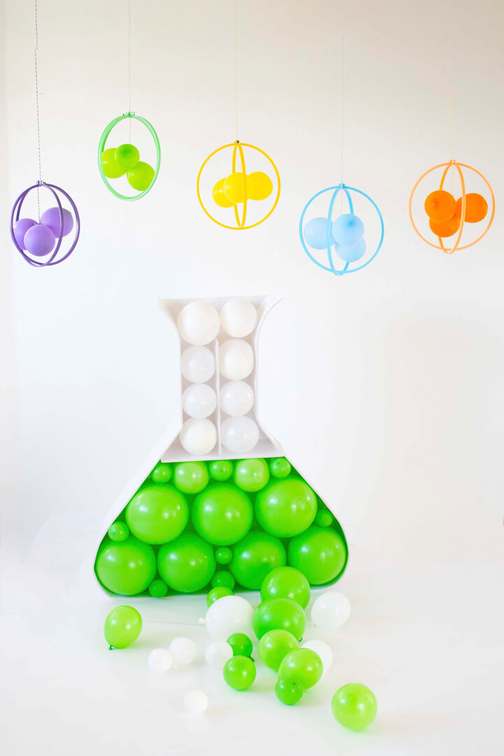 Funnel with Balloons from Mad Scientist Party In Collaboration with Twinkle Twinkle Little Party | Black Twine