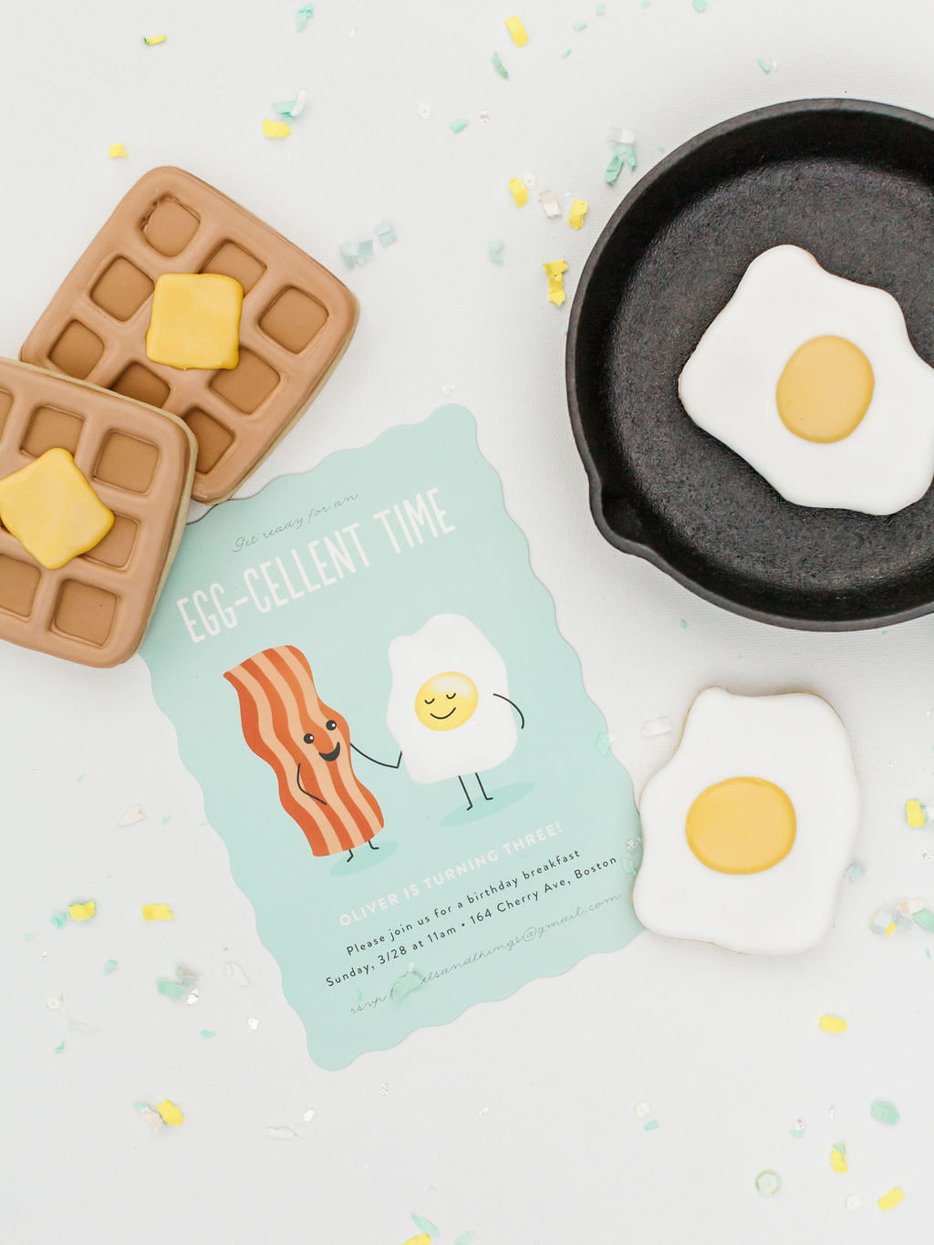 Invitation from Kids Birthday Brunch Styled by Deets & Things | Black Twine