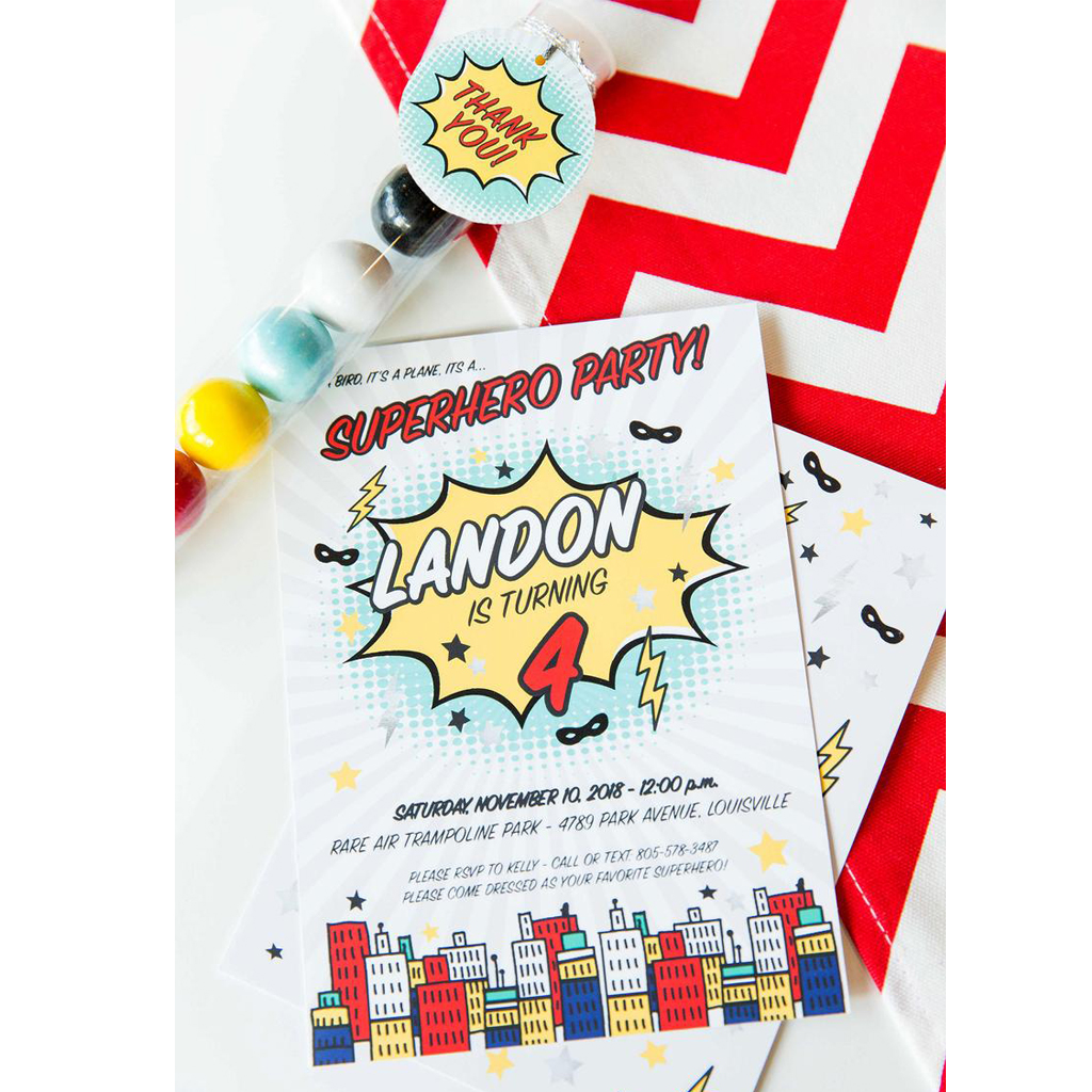 Invitations + Thank You Tags