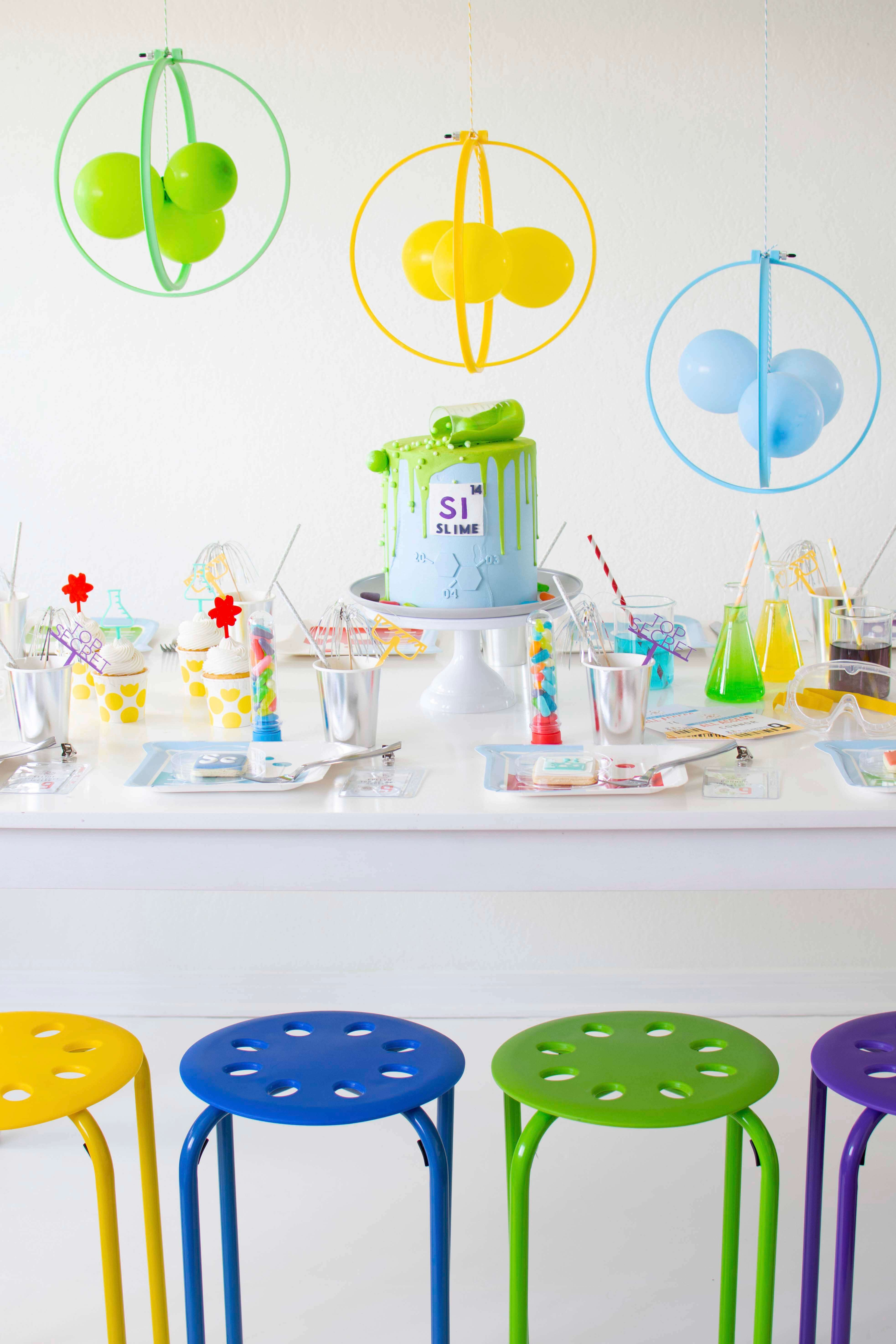 Place Setting with Chairs from Mad Scientist Party In Collaboration with Twinkle Twinkle Little Party | Black Twine