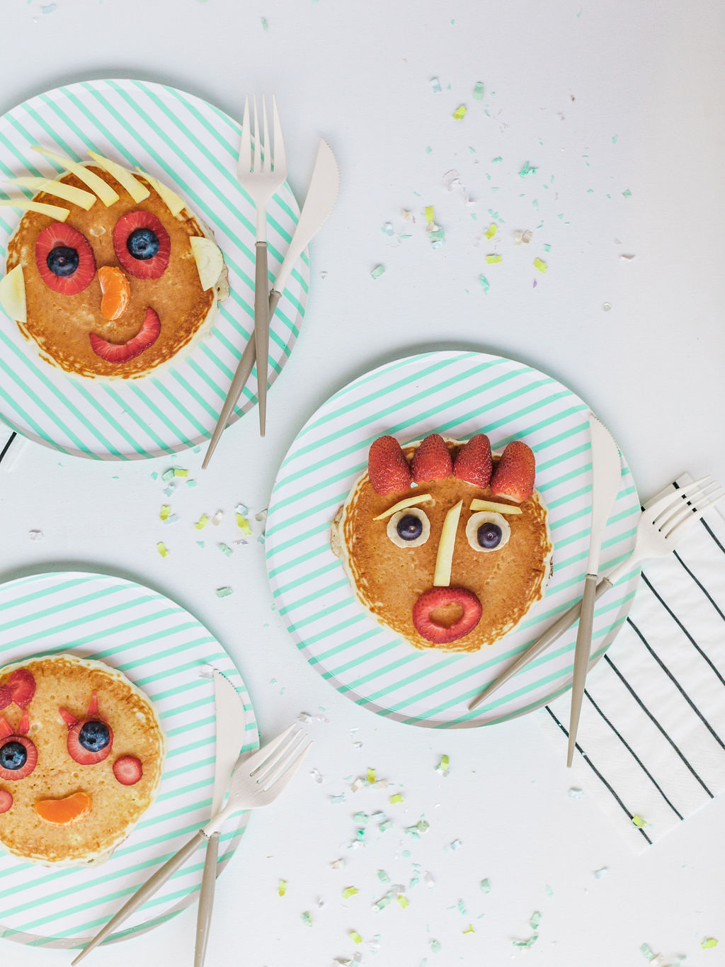 Pancakes from Kids Birthday Brunch Styled by Deets & Things | Black Twine