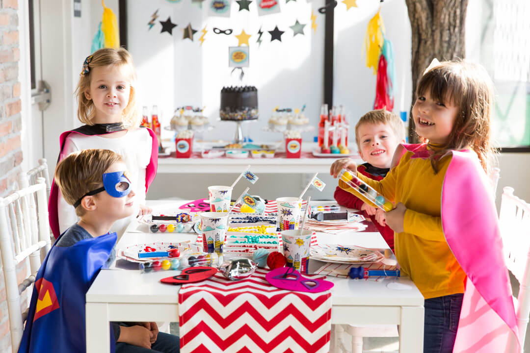 Partykids from Superhero Party by Kiss Me Kate Studio | Black Twine