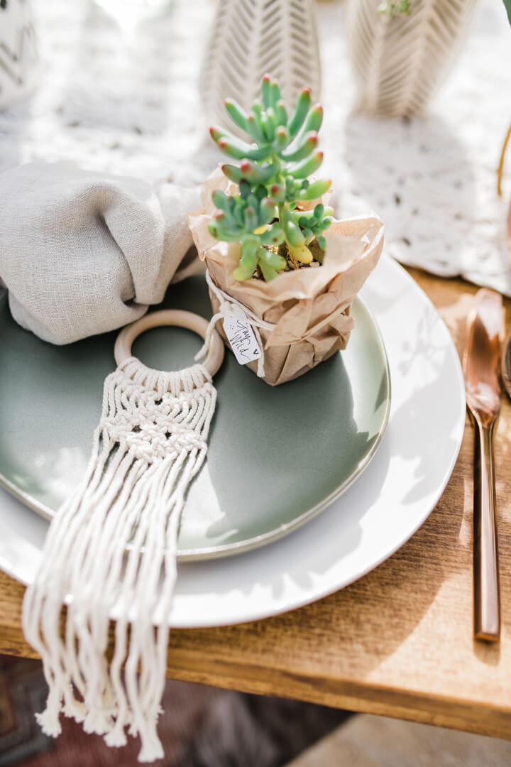 Place Setting from Stay Wild, My Child Baby Shower by The Revelry Co | Black Twine