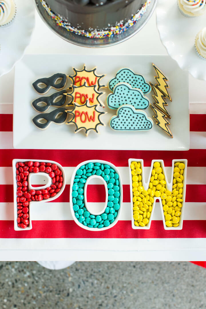Plate_Setting from Superhero Party by Kiss Me Kate Studio | Black Twine