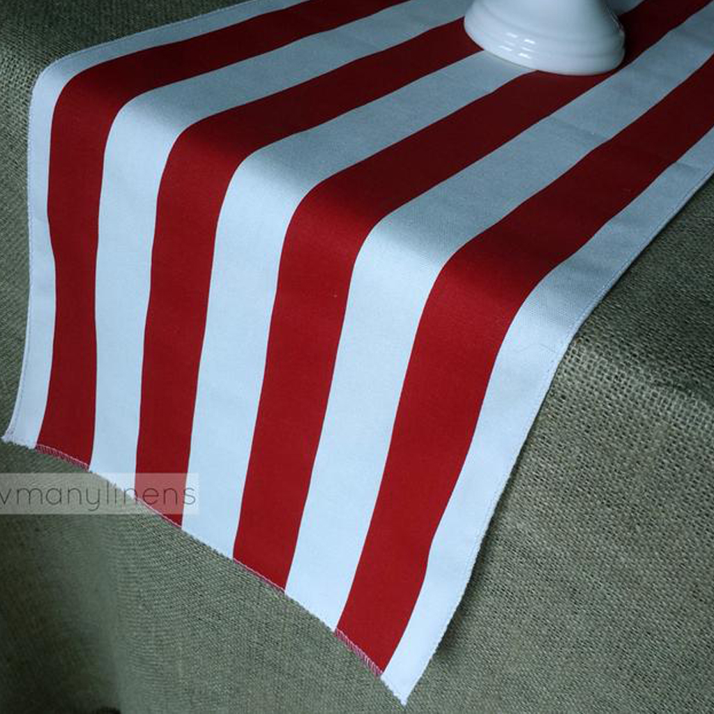 Red Stripe Table Runner