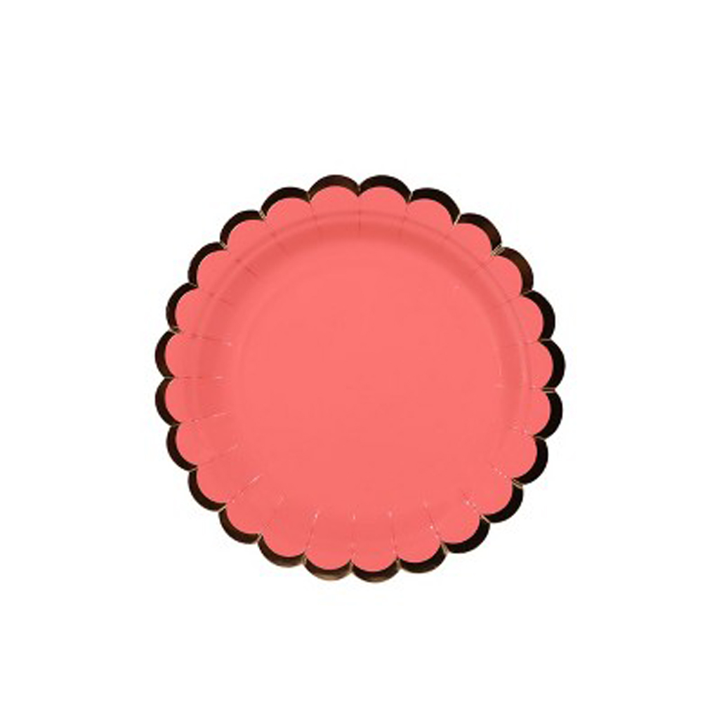 Scalloped Paper Plate Pink