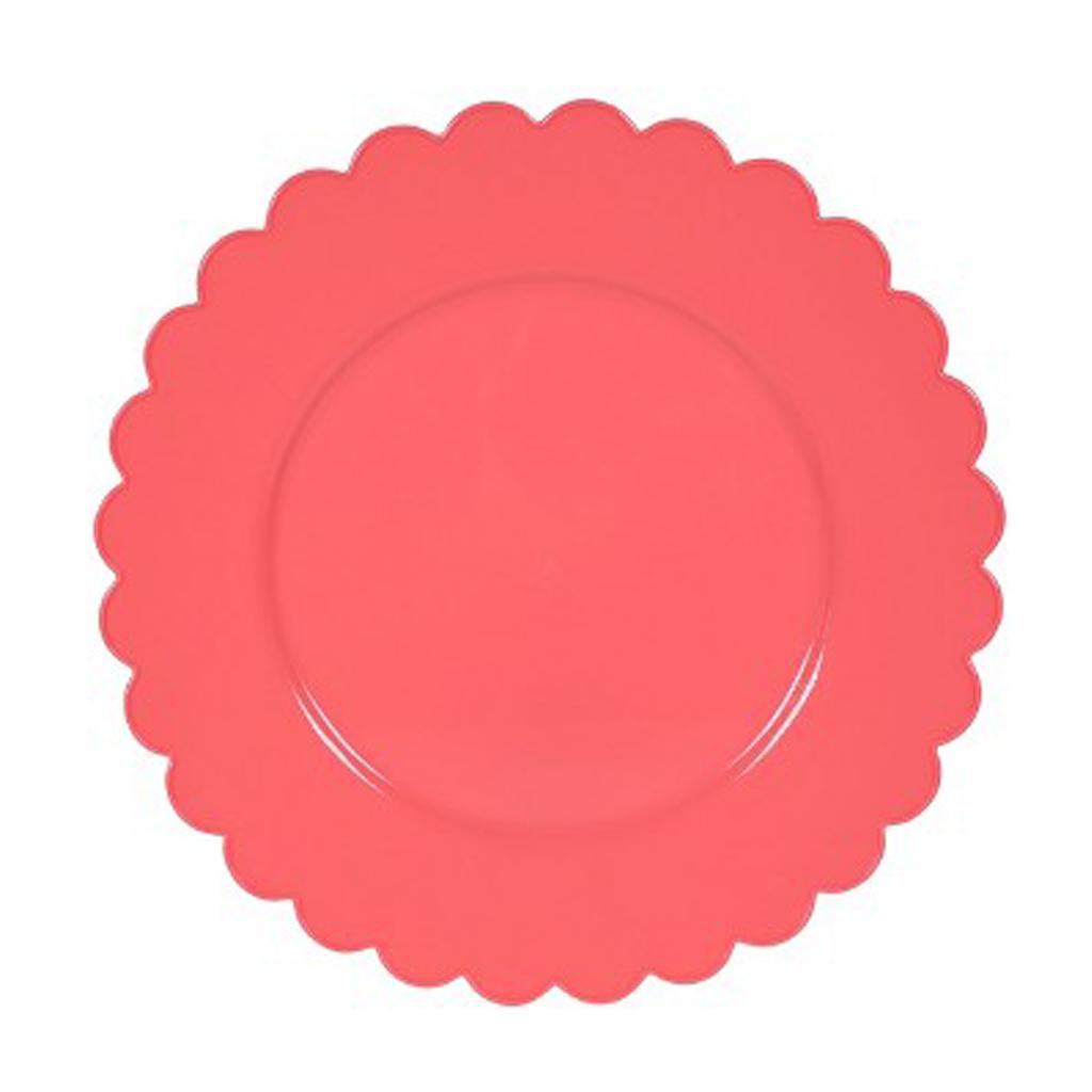 Scalloped Plastic Dinner Plate