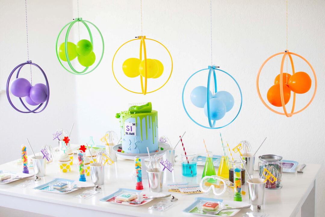 Tablescape from Mad Scientist Party In Collaboration with Twinkle Twinkle Little Party | Black Twine