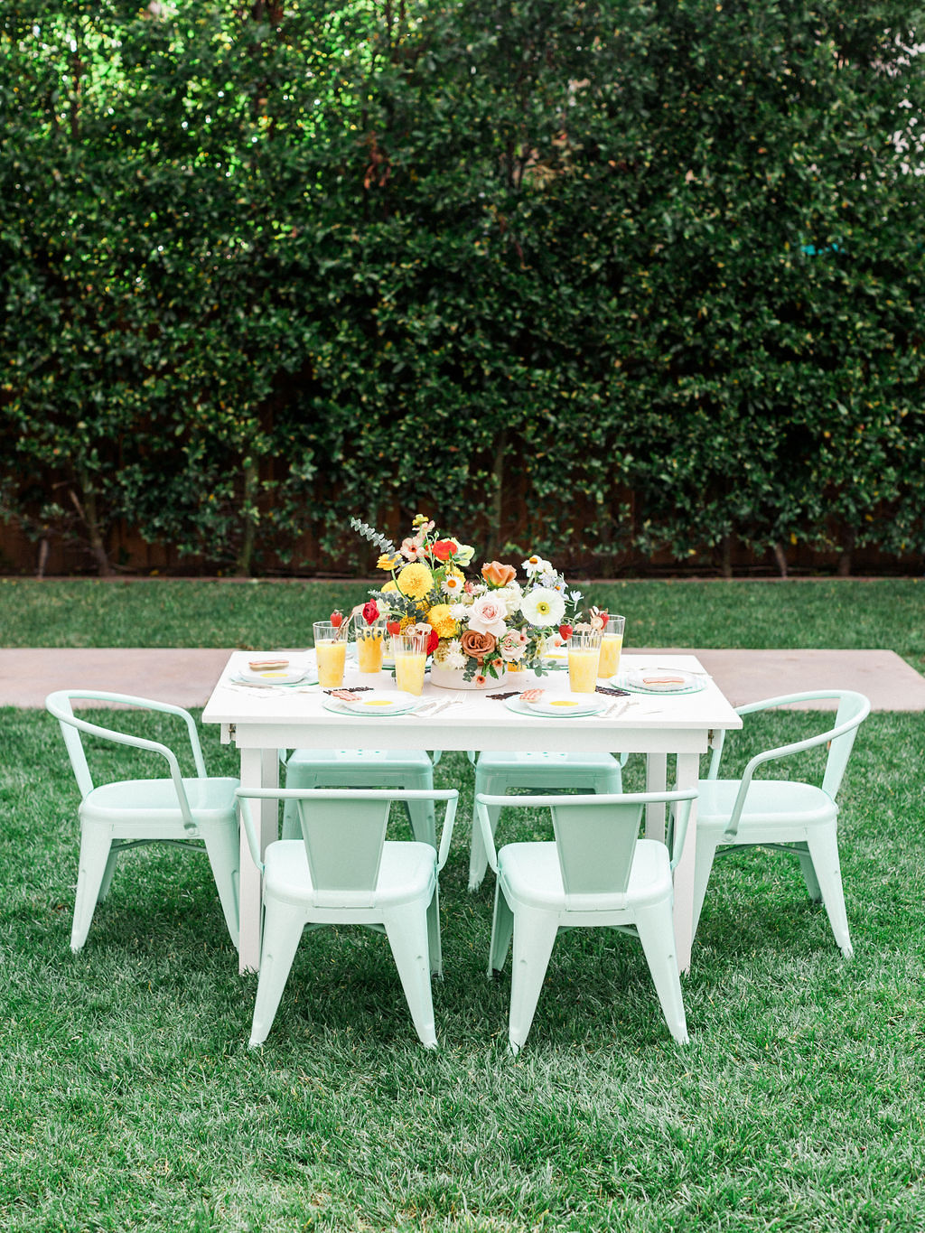 Tablescape from Kids Birthday Brunch Styled by Deets & Things | Black Twine