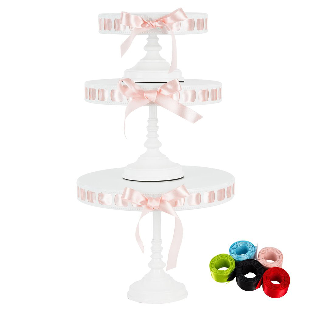 Tall Metal Ribbon Cake Stand