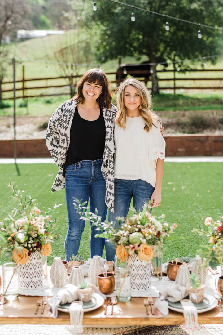 Two Women from Stay Wild, My Child Baby Shower by The Revelry Co | Black Twine