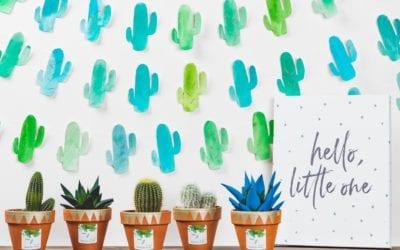 DIY Cactus Baby Shower Backdrop